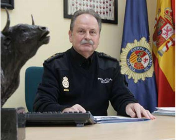 El Inspector Jefe, Marcelino Moronta, Director de la Oficina Central de Asuntos Taurinos